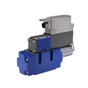 4/3-ходовые регулирующие распределители, непрямого действия, с электрическим возвратным движением хода и со встроенными электронными устройствами (OBE) 4WRLE.V