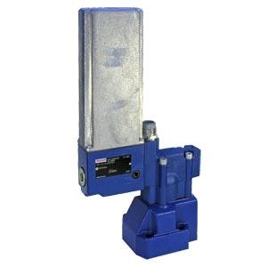 Пропорциональные редукционные клапаны, непрямого действия, с управлением от электродвигателя постоянного тока DRG