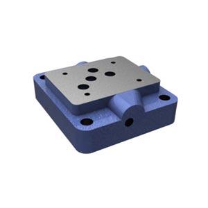Присоединительная плита, типоразмер 10 с расположением монтажных отверстий в соответствии с DIN 24340 форма A и ISO 4401 G 66/01