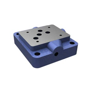 Присоединительная плита, типоразмер 10 с расположением монтажных отверстий в соответствии с DIN 24340 форма A и ISO 4401 G 67/01
