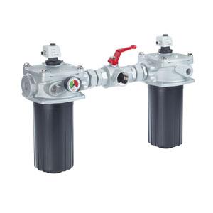 Сливной фильтр, устанавливаемый на бак, переключаемый, с фильтроэлементом согласно DIN 24550 10 TD(N)